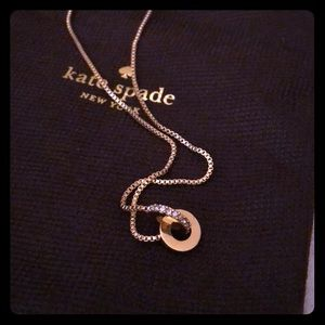 Kate spade gold infinity necklace